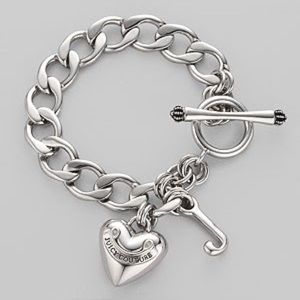 Silver Juicy Couture Charm Bracelet